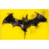 Batman Logo Watercolor Canvas Wall Decor